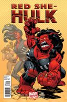 RED SHE-HULK cover by BroHawk