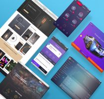 3D Website and App Mockups by theanthnonyrich