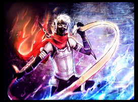 +Anbu Kakashi: Fire and water+ by moni158