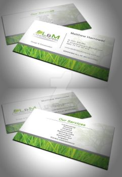 L and M Landscaping Business Card by 6thsensedesign
