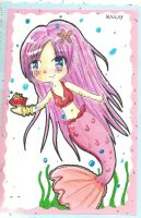 Mermaid chibi ....againXD by cjbrownie