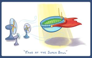 Superbowl Fans by AsylumOrange