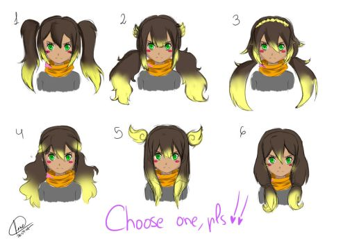 Please, help me to choose one!! (IE Oc) by Srtamoustach