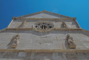 Pag City - church of St. Mary - front by ReneHaan