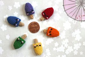 Kawaii Miniature Crocheted Amigurumi Popsicles by SkySinger92