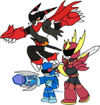 Trio of Heroes [Flat colors] by Chronicle-King