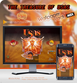 The Treasure of Usas - Wallpaper Pack MSX by kontxouso