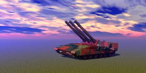 Confederate Trident Self Propelled Heavy Artillery by Xadrik-Xu