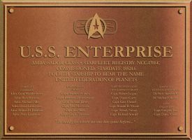 Enterprise-C plaque by davemetlesits