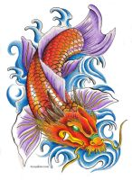Dragon Koi by Nathaldron