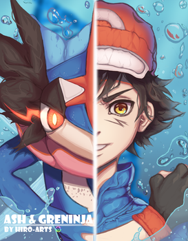 Ash - Greninja: Transformation! [+Video ] by Hiro-Arts