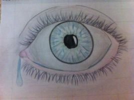 Freehand: Eye (Colored) by anime-art-girl