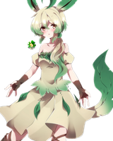 Leafeon Personate (Girl)_140124 by Matchagreen