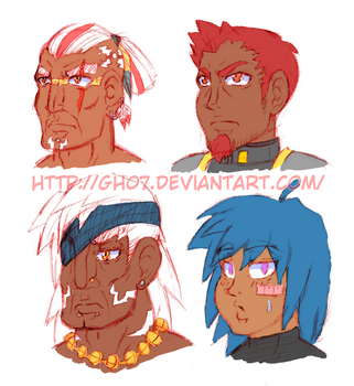 FOTSD Character Heads Color by gh07