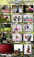 Art Summary 2012 - One Heckuva year by dustysculptures
