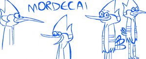 Some Mordecai Sketches by LotusTheKat