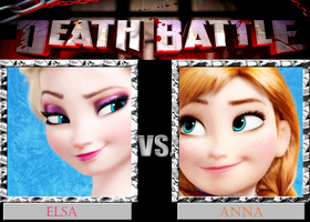 DB  Elsa VS Anna by KazuyaAlexander