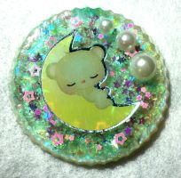 Sleeping Bear Resin Piece by TashaAkaTachi