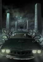 Tentacle Death Race cover illustration by Vaghauk