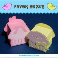 Cupcake Favor Boxes by Papacan