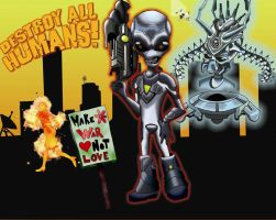 Destroy All Humans Fanart by DropDeadMeGGz
