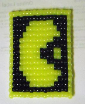 PacMan Coaster by geekbeads