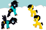 Snowball fight! by JadeTheDayDreamer