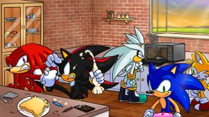 Sonic and his friends cooking by shaxime2soxime