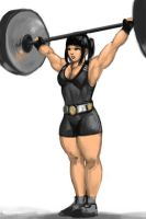 Weightlifting paint-doodle by ayanamifan
