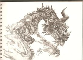 Paarthurnax from Skyrim by Gisterose