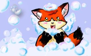 Bath Time: bubble Fest by ChristianKitsune