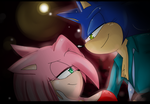 Sonic and Amy~party PARTY by Klaudy-na