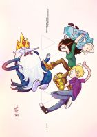 Adventure Time with Irrwahn and Panicat by illeity