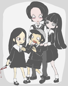 living dead dolls Damien and sadie by akizato929