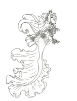 Winx Club Mermaid Flora coloring page by winxmagic237
