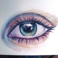 EYE - WATERCOLOR by illusionality