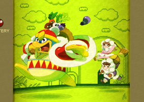 IC 30th Anniversary - Day 13 - VS King Dedede by TamarinFrog