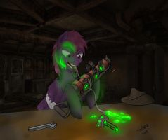 Repair pony by Slouping