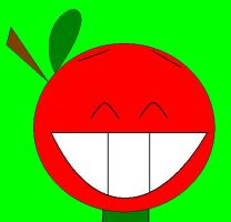 Marvin the Happy Apple by babypixee
