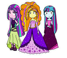 Dazzlings Prom Designs by Fantasygerard2000
