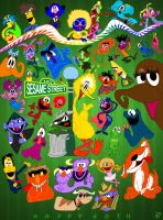 Forty Furry Years of Sesame St by JonnyBCartoonMan
