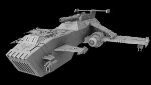 Thunderhawk Warhammer 40k Wip by L0to
