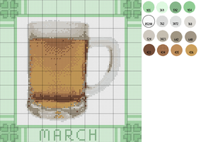 Pattern: A Cup of March by cathartic-dream