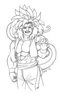 Gogeta 4 Lineart by Iceway