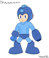 Megaman - SSMB Avatar Commission by Yeow95