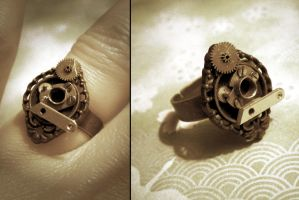 Clock Part Ring by StaticSkies