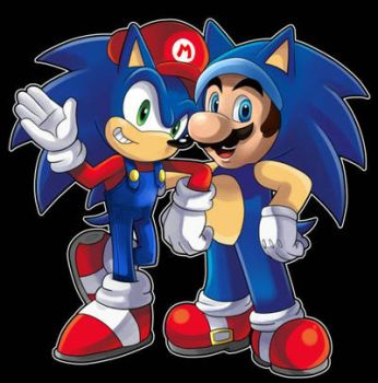 Mario and Sonic swap by Brightspark23