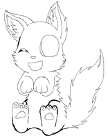 Aren't I cute?-Lineart by DigiPikachuX