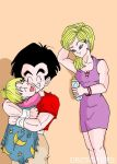 A18 Krilin and Maron by dbzsisters