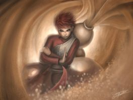 Gaara of the Sand by Zeronis